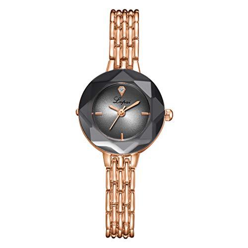 - Womens Quartz Watch,Present Hot Fashion Casual Geometric Surface Matte Dial Alloy Strap Quartz Watch(D)