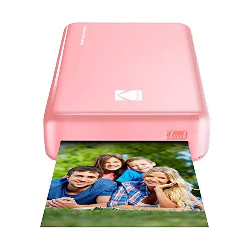 (Kodak Mini 2 HD Wireless Portable Mobile Instant Photo Printer, Print Social Media Photos, Premium Quality Full Color Prints – Compatible w/iOS & Android Devices (Pink))