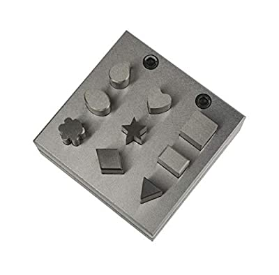 Disc Cutter Assorted Shapes Punch Tool Stamping Blanks Gold Silver Metal Coins Jewelry Making