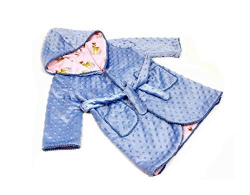 Bata de casa en Minky y Batista para Bebé Niño y Niña (12 a 24 Meses) Modelo Caramelo - Hecho a Mano - Excellent: Amazon.es: Ropa y accesorios