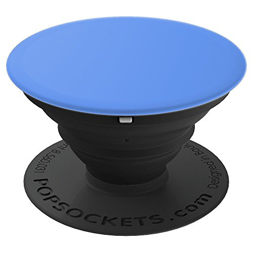 Cornflower Blue Color Solid Hue Plain - PopSockets Grip and Stand for Phones and Tablets (Cornflower Blue Color)