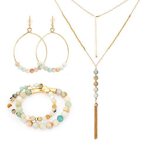 PINASON Gemstone Earrings Necklace Bracelets product image
