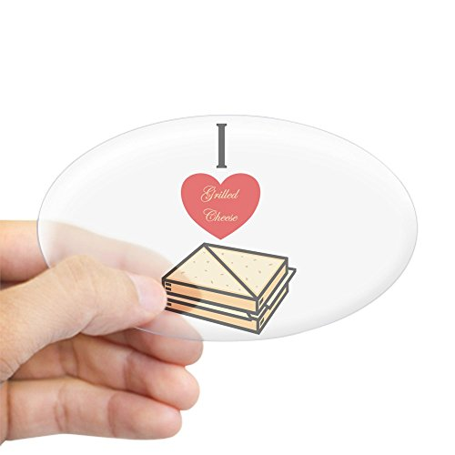 CafePress I Love Grilled Cheese Oval Sticker Oval Bumper Sticker, Euro Oval Car Decal