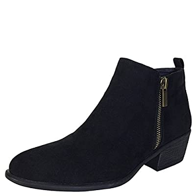 BAMBOO Women's Ankle Bootie With Side Zippers
