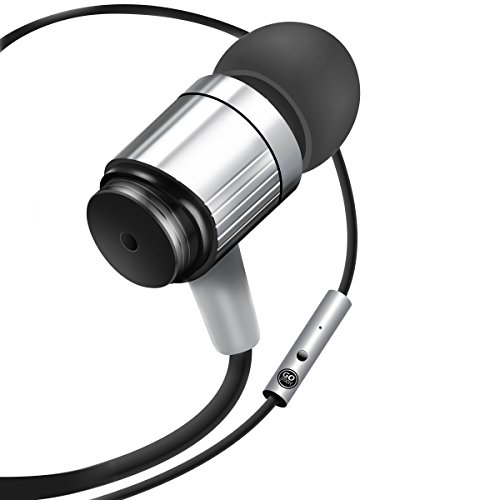 GOgroove Durable Heavy Earbuds Silver product image