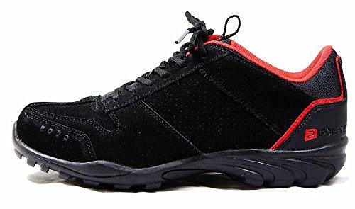 Noir Gris à Rouge Chaussures lacets bojo Casual Polaris Noir SPD qZY7BB
