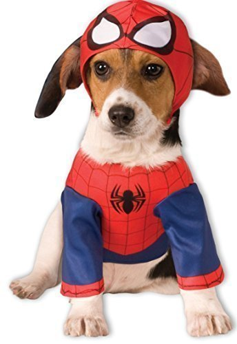 Pet Dog Cat Spiderman Super Hero Halloween Christmas Fancy Dress Costume Outfit Clothes Gift S-XL (XXL)]()