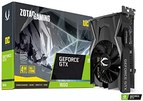 Zotac ZT-T16500F-10L - Tarjeta gráfica (GeForce GTX 1650, 4 GB, GDDR5, 128 bit, PCI Express 3.0, 1 ventilador)