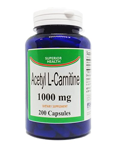 Acetyl L Carnitine Supplement 1000mg 200 Capsules (ALCAR)