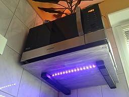 schwarz universal wandhalterung f r mikrowelle grillofen ausziehbar belastbar bis 35 kg inkl. Black Bedroom Furniture Sets. Home Design Ideas
