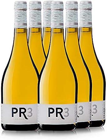 PRADOREY PR3 Barricas - Vino blanco - Verdejo - Rueda - Vino de autor - 9 meses en barrica y sin maloláctica - 6 Botellas de 0,75 L