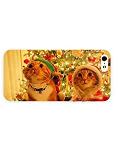 3d Full Wrap Case for iPhone 5/5s Animal Cats In Santa Suits