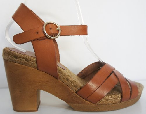 Collection - Sandalias de vestir de Piel para mujer Marrón marrón (Tan Brown) 41 EU