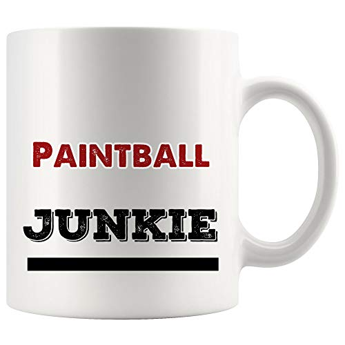 Paintball Junkie Mug Coffee Cup Tea Mugs Gift | Paint archery outdoor game Funny Lover Men Women Kids Sayings Travel Gifts