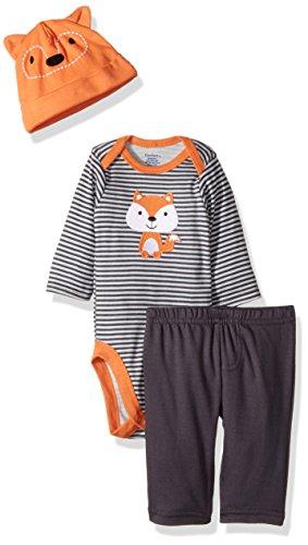 Gerber Baby 3 Piece Bodysuit, Cap and Pant Set, fox, 24 Months