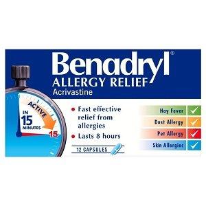 benadryl allergy uk