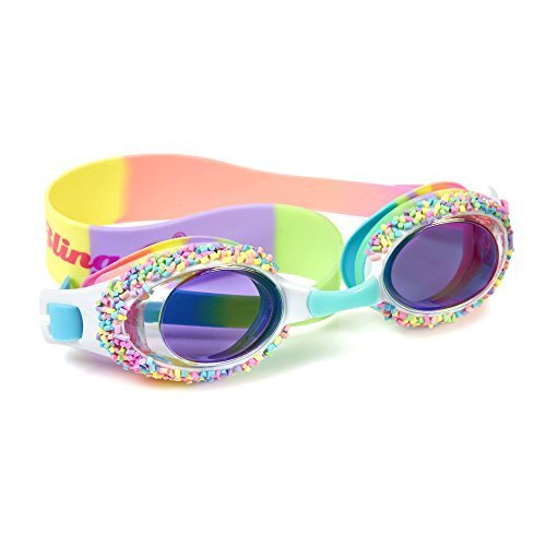 Swimming Goggles For Girls - Cake Pop Kids Swim Goggles By Bling2o (Whoopie Pie Brights)