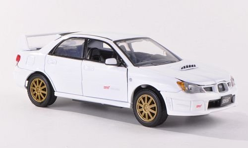 Subaru Impreza WRX STI, white, Model Car,, Motormax 1:24