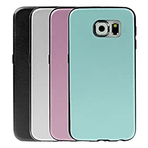 SHOUJIKE Silk Texture PU Leather Paste TPU Protective Case for Samsung Galaxy S6 G9200 (Assorted Colors) , Pink