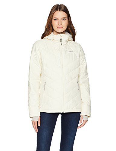 Columbia Heavenly Hooded Jacket, Small, Light Bisque
