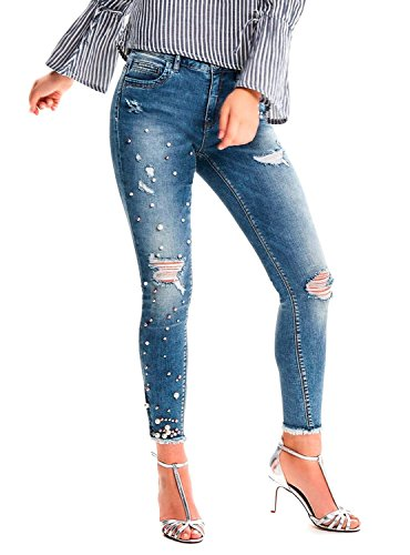 Denim Light para Skinny Only Blue Mujer Vaqueros xqPnSa