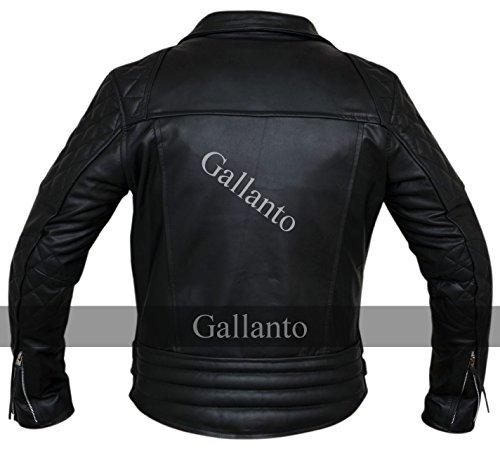 Motocicletta Pelle Diamante Motociclista Giacca Classico Uomo Giacche 1aT74xwnI