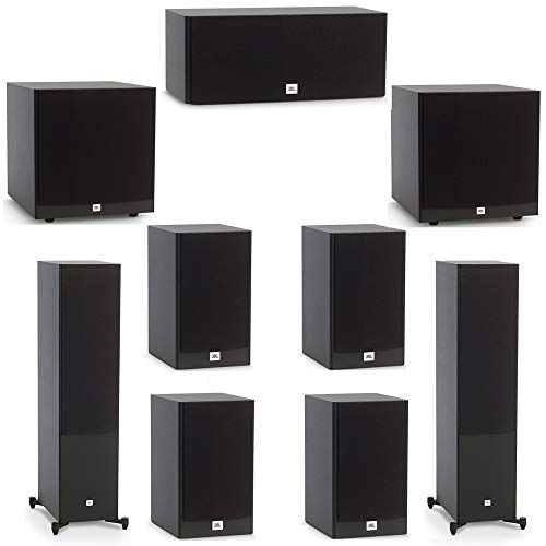JBL 7.2 System with 2 JBL Stage A190 Floorstanding Speakers, 1 JBL Stage A125C Center Speaker, 4 JBL Stage A130 Bookshelf Speakers, 2 JBL Stage A120P Subwoofers from JBL