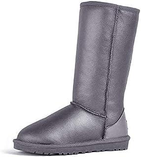 BNXXINGMU Snow Boots Waterprooffor Women Snow Boots Winter Shoes Grey 8