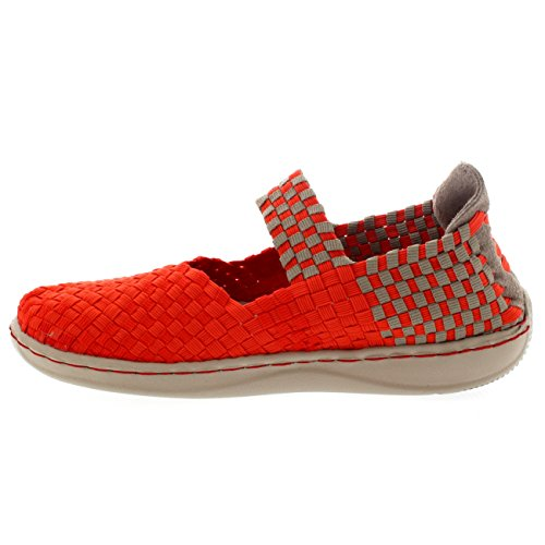 E Women's last Dude Mary Shoes Jane Orange Coral AEgAWUxq