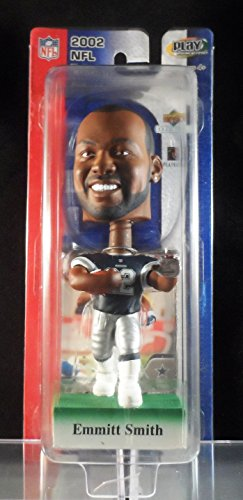 2002 Upper Deck Play Makers Emmitt Smith Dallas Cowboys Blue Jersey Bobblehead Smith Bobble Head