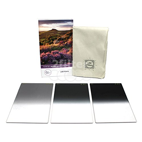Lee Filters 4x6 (100x150mm) Neutral Denisty soft edge grad set includes 0.3, 0.6 and 0.9 soft edge grad filters and triple filter wrap