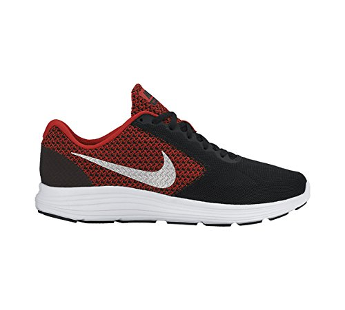 picture of Men's Nike Revolution 3 Running Shoe University Red/Black/White/Metallic Silver Size 11 M US