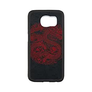 Samsung Galaxy S6 Cell Phone Case Black_Red Dragon Pgnyk