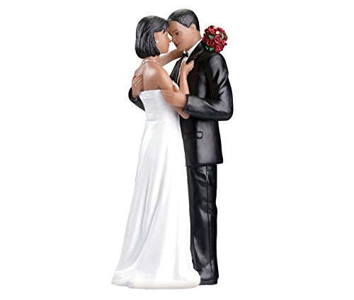Lillian Rose African American Bride Groom Wedding Cake Topper (Topper Cake Wedding American African)