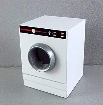 Amazon.es: Casa de Muñecas Secadora Lavadora Miniatura Blanco ...
