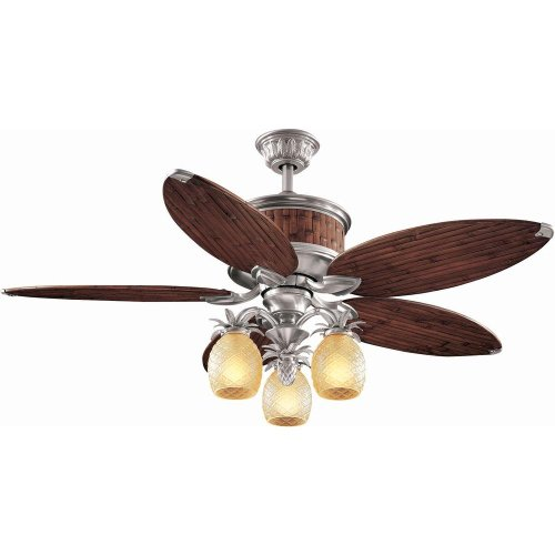 Hampton Bay Colonial Bamboo 52 in. Pewter Ceiling Fan