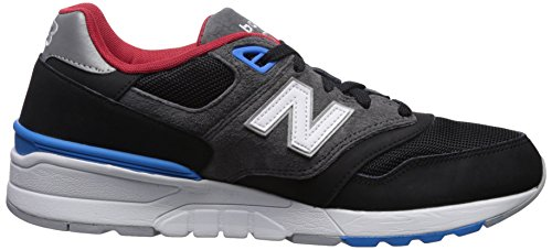 New Balance Men's 597 Low-Top Sneakers, Red/Black/White Black/Bolt