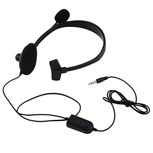 Portable Black Wired Gaming Game Music Headset Earphone with Adjustable Boom Microphone for Playstation PS4 VOL