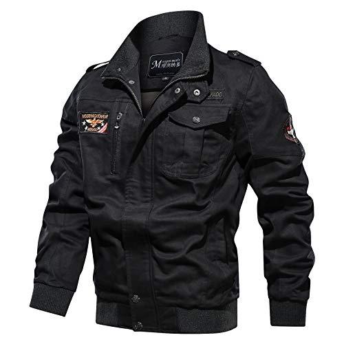 Militare Nero mg9962 Giacca Zipper Memoryee Antivento Leggera Uomo A Giacche All'aperto Cotone Vento XdZfq