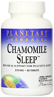 Planetary Herbals Chamomile Sleep Tablets, 60 Count