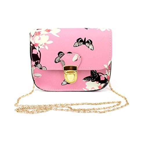 with Tote Crossbody Strap Butterfly Purse Flower Remove Metal Paymenow Bag Pink Bag Women Ca8fq