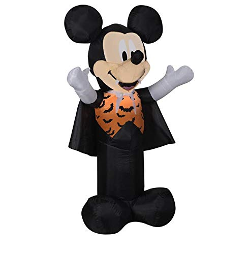 Disney Mickey & Friends 3.51-ft x 1.97-ft Lighted Mickey Mouse Halloween -