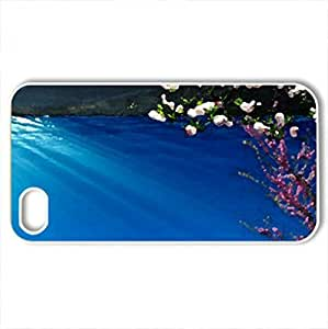 Spring Joy - Case Cover for iPhone 4 and 4s (Lakes Series, Watercolor style, White)