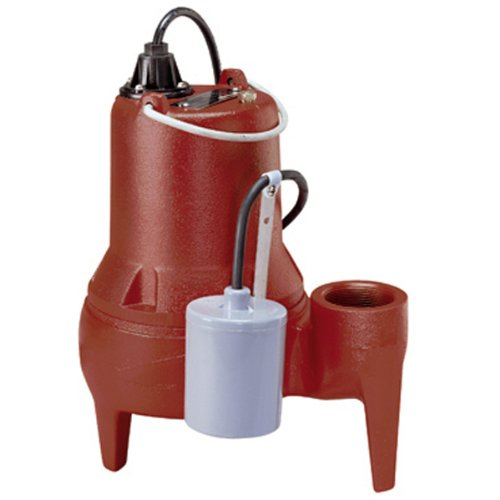 Liberty Pumps LE41A-2 Automatic Submersible Sewage Pump w/ Wide-Angle Piggyback Float Switch 4/10HP 115V, 25' Cord, 2