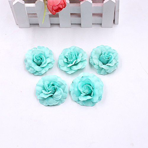 Fake flowers heads Artificial Silk Mini Rose Flower head Wedding Home Decoration DIY party festival Decor Garland Scrapbook Gift Box Craft Fake Flower 30pcs/lot (Tiffany) from Artificial Flowers