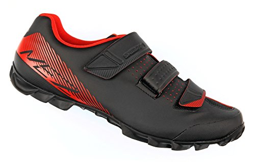 Mountain Bike Shoes (Shimano SH-ME2 Men's Mountain Enduro SPD Cycling Shoes - Black/Orange - 46)