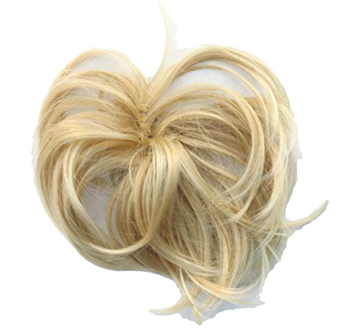Scrunchie Hair Extension Honey Blonde Mix Fuller Scrunchie Up Down Do Super S Synthetic (Spiky Blonde Wig)