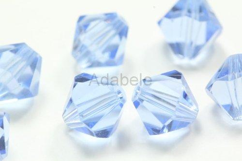 Sapphire Swarovski Crystal Bicone Bead - 24 8mm Adabele Austrian Bicone Faceted Crystal Beads Light Sapphire Alternative For Swarovski Preciosa Crystalized 5301/5328 #SSB814