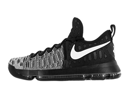 Nike Mens Zoom Kd9 Elite Scarpa Da Basket Nero / Bianco