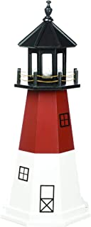 product image for DutchCrafters Decorative Lighthouse - Wood, Barnegat Style (Cardinal Red, Black, White, 5)